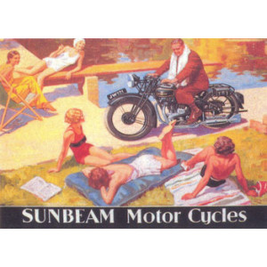 Sunbeam Motor Cycles Nostalgic Postcard