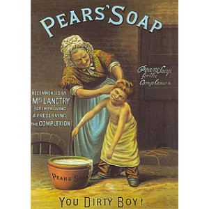 Pears Soap You Dirty Boy Nostalgic Postcard