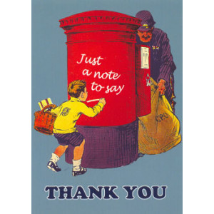 Just a Note to Say Thank You Postcard