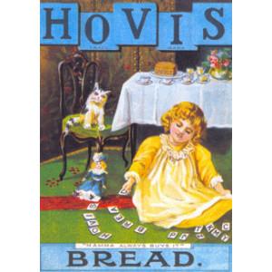 Hovis Bread Girl & Cat Nostalgic Postcard
