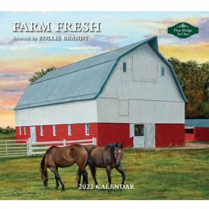 Farm Fresh Rollie Brandt 2022 Pine Ridge Art Wall Calendar