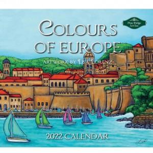 Colours of Europe Lisa Lorenz 2022 Pine Ridge Art Wall Calendar