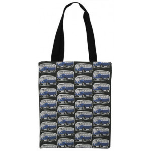 Shopping Carry Bag Blue VW Kombi Camper Vans