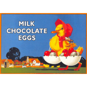 Caleys Milk Chocolate Eggs Nostalgic Postcard
