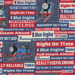 Thomas The Tank Trains Right on Time Quilting Fabric