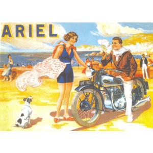 Ariel Motorcycle Nostalgic Postcard