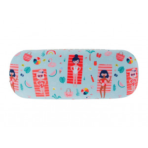 Beach Babes Glasses Case and Eyeglasses Cleaning Cloth
