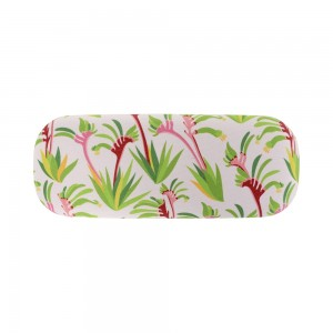 Glasses Case with Eyeglasses Cleaning Cloth Kangaroo Paw Pink