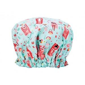 Ladies Girls Elasticised Shower Cap Beach Babes Design Australian Made