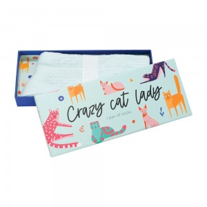 Womens Ladies Fun Novelty Boxed Socks Crazy Cat Lady