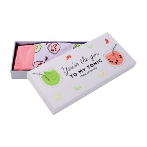 Womens Ladies Fun Novelty Boxed Jacquard Socks You're the Gin to my Tonic