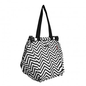 Reusable Shopping Trolley Bag by Sachi - Chevron Stripe