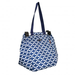 Reusable Shopping Trolley Bag by Sachi - Moroccan Navy