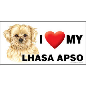 I Love My Lhasa Apso Dog Fridge Office Fun Magnet