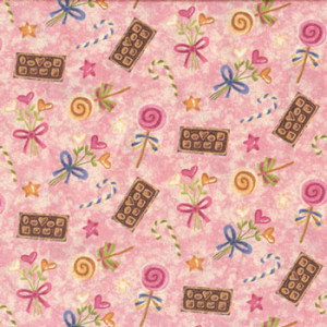 Make Mine Chocolates Candy Quilt Fabric