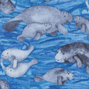 Dugongs Ocean Quilt Fabric