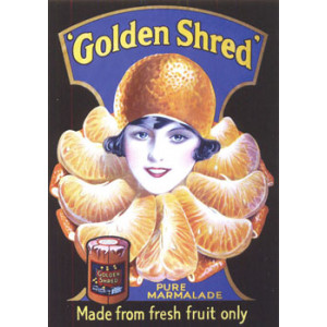 Golden Shred Lady Nostalgic Postcard