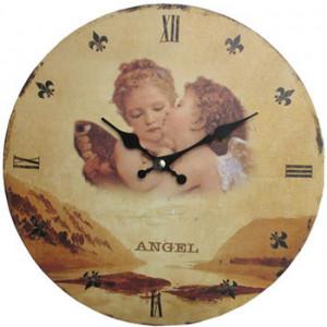 Angel Cherubs Round Wall Clock