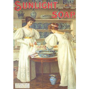 Sunlight Soap Ladies & China Postcard