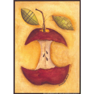 Country Apple Core 5 x 7 Print