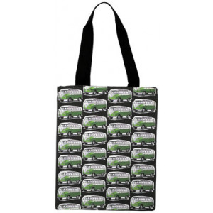Shopping Carry Bag Green VW Kombi Camper Vans
