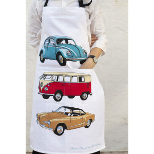 Classic VW Volkswagon Cars of The 20th Century 100% Cotton Drill Kitchen Apron