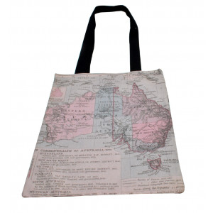 Shopping Carry Bag Historical Map of Australia