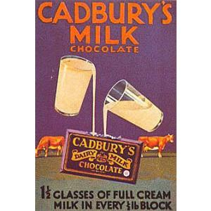 Cadburys Glass & a Half Nostalgic Postcard