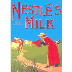 Nestles Swiss Milk Cow Nostalgic Postcard