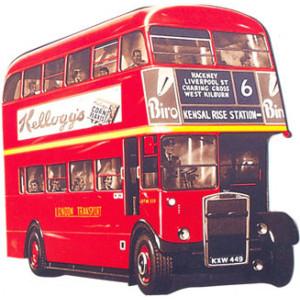 London Double Decker Bus Postcard