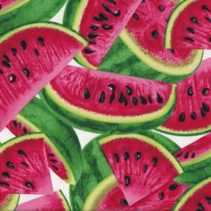 Large Watermelon Fruit Quilt Fabric