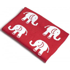 Elephants Design Soft Baby Blanket