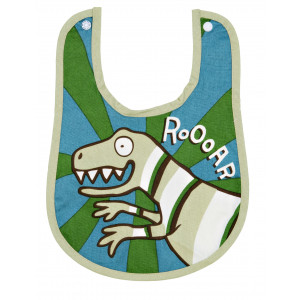 Little Blue House Roooar Roar Dinosaur Coated Infant Bib