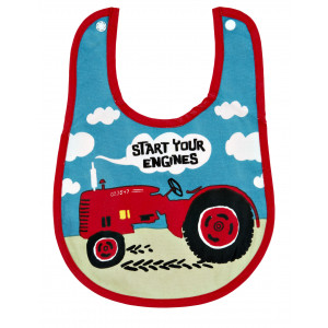 Little Blue House Farmer Jack Big Red Tractor Coated Infant Bib