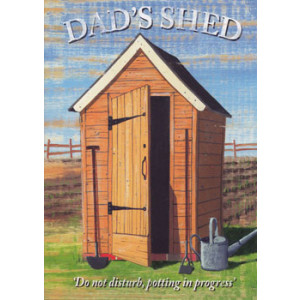 Dads Shed Greeting Card by Martin Wiscombe