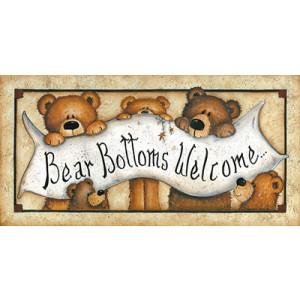 Teddy Bear Bottoms Welcome 10 x 20 Print