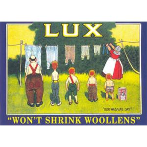 Lux Clothesline Nostalgic Postcard