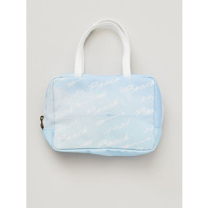 Beach Fashion Sky Blue Canvas Mini Carry Handbag