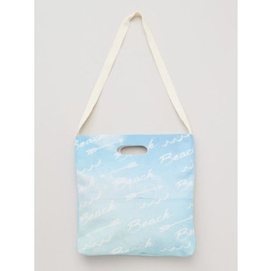 Beach Fashion Sky Blue Canvas Shoulder Carry Bag