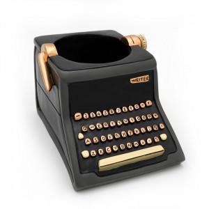 Typewriter Writer Black Resin Indoor Pot Planter