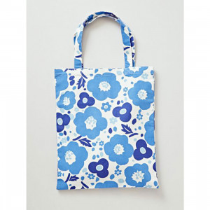 Botanical Flower Canvas Reusable Shopping Tote Bag