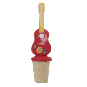Caravanna Guitar Design Bottle Stopper