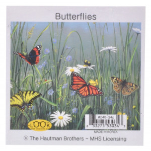 Garden Butterflies Microfiber Glasses Cleaning Cloth