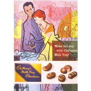 Cadburys Milk Tray Chocolates Nostalgic Postcard