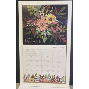 Timber Decorative Calendar Frame Holder - White