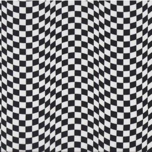 Black and White Checkered Flag Design Car Racing Quilt Fabric