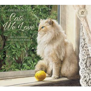 Cats We Love by Sueellen Ross 2021 Legacy Wall Calendar
