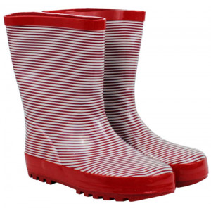 French Red Stripe Design Kids Childrens Wellies Gumboots