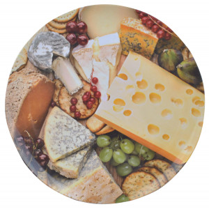 Cheese and Fruit Design Melamine Serving Tray
