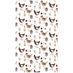 Farmyard Chickens 100% Cotton Kitchen Tea Towel
